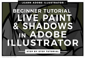 adobe illustrator coloring tutorial using live paint jason secrest