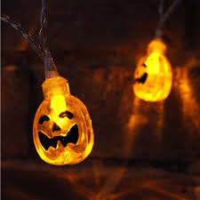 pumpkin battery led halloween fairy lights x 10 halloween lighting