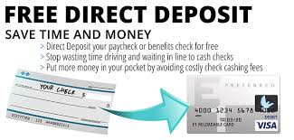 direct deposit card home