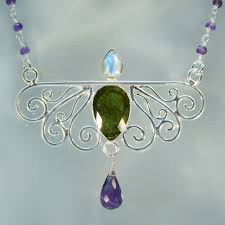 gemstone silver necklace images Handmade gemstone necklaces arkadia jpg