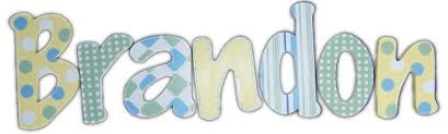 brandon u0027s yellow green and blue hanging wooden letters