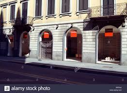 italy design shop milan italy design interior cassina shop stock photo royalty