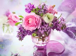 beautiful spring beautiful spring flowers in vase stock photo picture and royalty