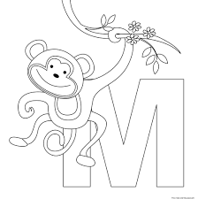 printable animal alphabet letters m coloring pagesfree printable