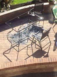 Glass Table Patio Set Asda Investigates Patio Set U0027which Explodes In Sunshine After Four