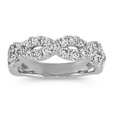 infinity wedding rings diamond infinity wedding band shane co