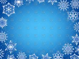 oval frame of snowflakes on blue background vector clipart image