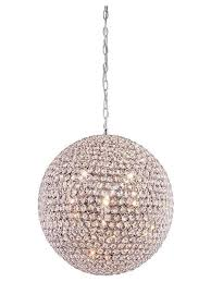 Sphere Chandelier With Crystals Speakeasy Light Fixture Iron Chandelier Made With Rusted