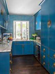 electric blue kitchen cabinets 75 blue backsplash ideas navy aqua royal or coastal