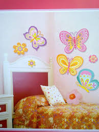 baby nursery modern kids bedroom furniture set and decorations baby nursery girly best kids room decor beautiful butterfly wall decor stickers orange floral bedcover