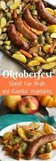 thanksgiving dinner vegetable recipes oktoberfest sheet pan brats with roasted vegetables recipe
