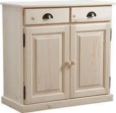 meuble bas cuisine 2 portes 2 tiroirs buffet en bois brut 2 portes 2 tiroirs