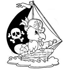pirate ship captain parrot coloring kids play color
