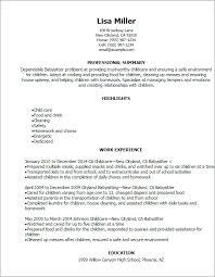 Sample Talent Resume by Babysitter Resume Sample Jennywashere Com