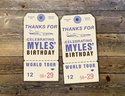 oh the places you will go luggage tag favor tag birthday