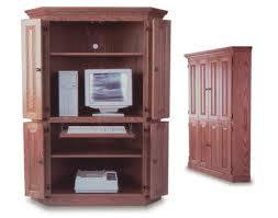 Computer Armoire Corner Corner Computer Armoire Amish Office Furniture Sugar Plum Oak