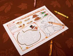 thanksgiving printables thanksgiving place mats kids