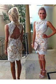 lace white homecoming dresses