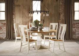 bassett bench made six person round table set wayside furniture