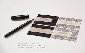 business card resume tropical pattern professional u0026 modern cv resume portfoilio