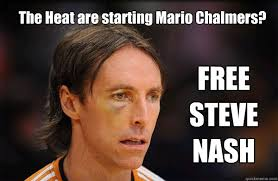 Mario Chalmers Meme - the heat are starting mario chalmers free steve nash free steve