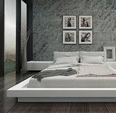 chambre avec mur en intérieur moderne de chambre à coucher avec le mur en