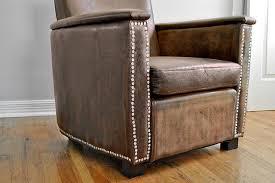 Worn Leather Sofa Distressed Vinyl Club Chairs Beautiful Matters