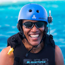 Obama Necker Island Barack Obama Kitesurfing In The Caribbean 2017 Pictures Popsugar