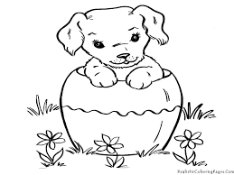 puppy coloring pages the sun flower pages