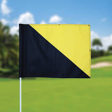 Golf Flags Golf Flag Semaphore Black Yellow Golf Flags For Sale In High