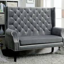wingback couch chrisanna wingback loveseat wayfair