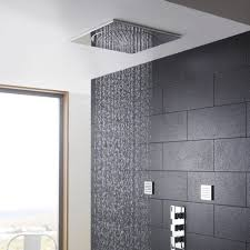 shower head ceiling tile bathroom design ideas with dark ceramic