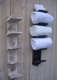 towel rack with shelf wall mounted nucleus home