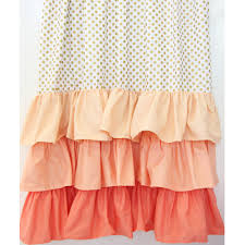 Yellow Ruffle Curtains by Caden Lane Gold Dot And Coral Ruffle Curtains Set Of 2 Petite