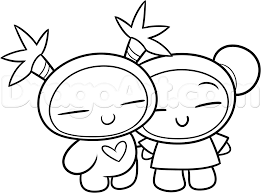 how to draw valentine pucca and garu step by valentines how