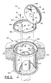 patent us7144189 locking cover for wells and underground tanks