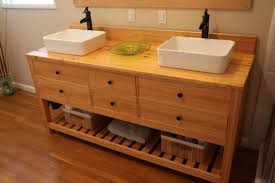 hand crafted double sink vanity by farmhouse table company double