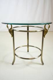 brass swan coffee table brass swan glass side table by dia design institute of america mid