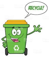 imagenes animadas sobre el reciclaje personaje de dibujos animados de bin de reciclaje verde feliz