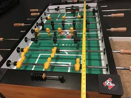 space needed for foosball table how much room do you need for a foosball table game room info