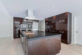 brown kitchen cabinets high gloss brown cabinets wow in contemporary kitchen hgtv