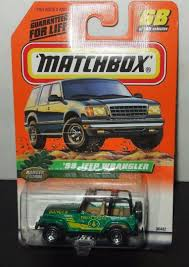 matchbox jeep cherokee matchbox ranger patrol series collectors 68 green 1998 jeep
