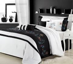 White Black Comforter Sets 12pc Nori Black White Luxury Bedding Set Bed In A Bag Looking