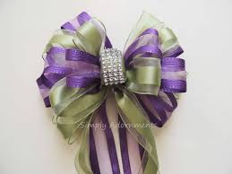Wedding Pew Bows Vintage Purple Sage Green Wedding Pew Bow Pistachios Purple