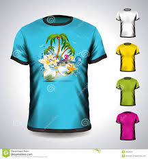 themed t shirts vector t shirt set on a summer theme stock vector image