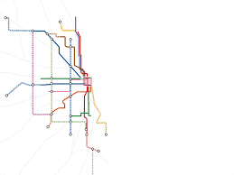 Chicago Elevated Train Map by Transit Future