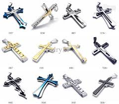stainless cross necklace images Wholesale pretty gift high quality punk cross pendant jewelry jpg
