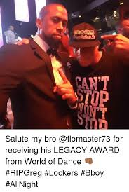 can t salute my bro for receiving his legacy award from world of