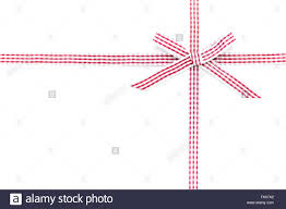 checkered ribbon checkered ribbon and bow isolated on white background stock