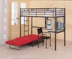 bedroom alluring wyatt white loft bed unit with desk and chair
